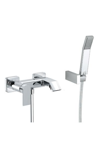 Charma art 148210 miscelatore vasca esterno con doccetta e flessibile m 1 50 - Miscelatore bagno con doccetta ...